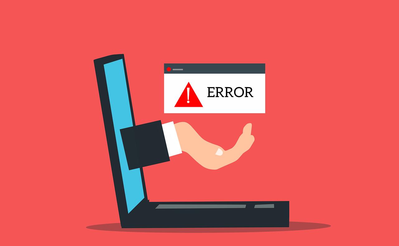 image laptop erreur